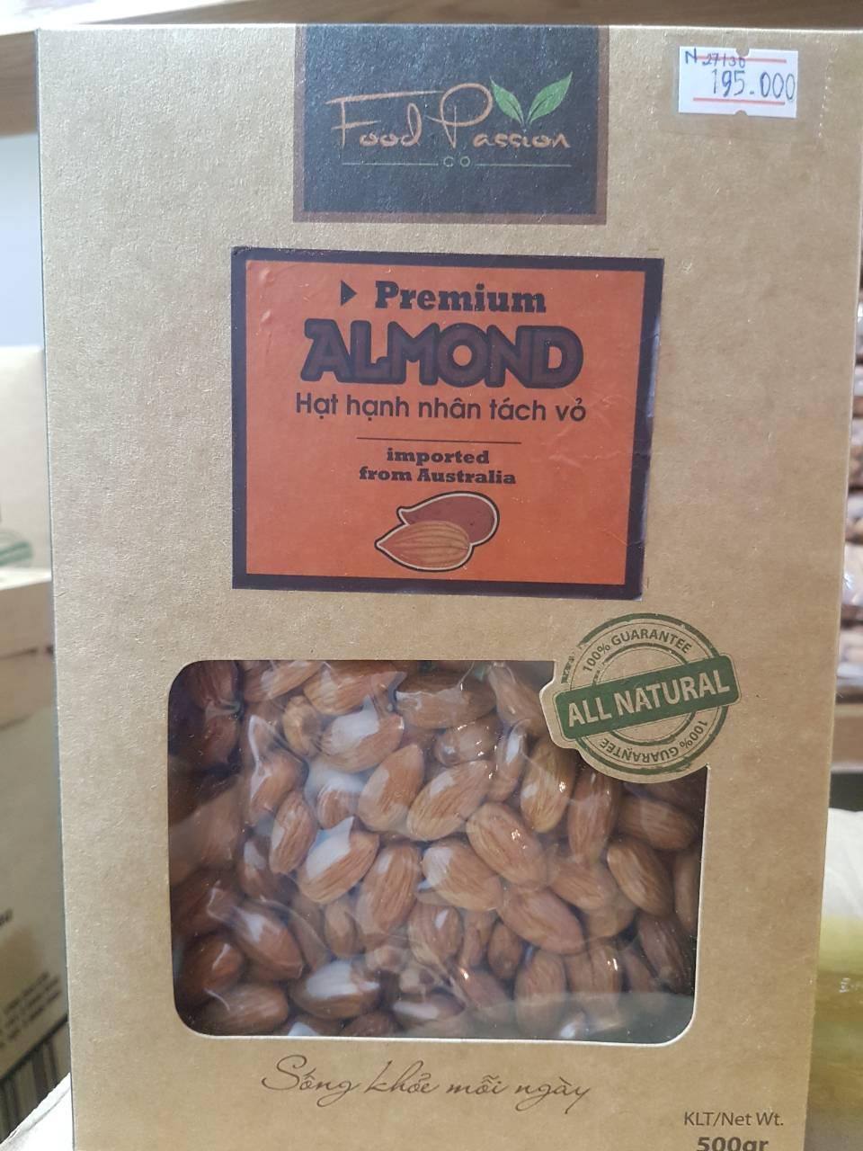 Hạnh Nhân Tự Nhiên Hộp 500gr – Premium Almond